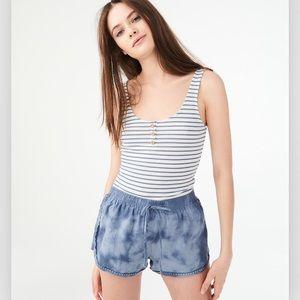 Aeropostale blue tye-dye soft shorts